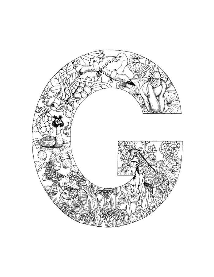 100 best alphabet coloring images on pinterest for Alphabet coloring pages for adults