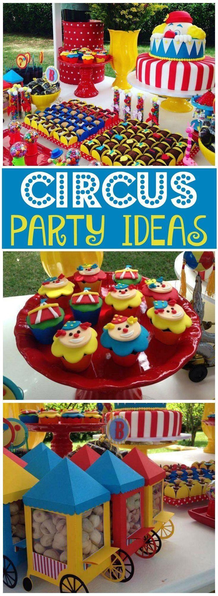 Here's an amazing colorful circus birthday party! See more party ideas at CatchMyParty.com!