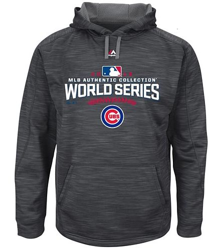 Chicago Cubs 2016 World Series Participant Road AC Hooded Grey Sweatshirt