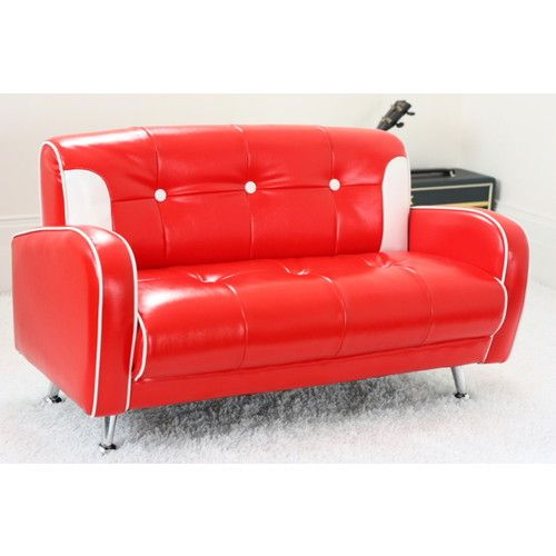 Red Mini Mustang Kids Sofa   Love This For Emerson! He Can Have His Own