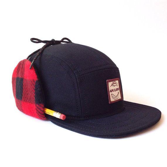 Panel de invierno 5, tapa tapa, sombrero del invierno del mens, hecho a mano invierno, casquillo mens, gorra de béisbol de invierno, sombrero de la aleta, regalos para novios, Estados UNIDOS hizo
