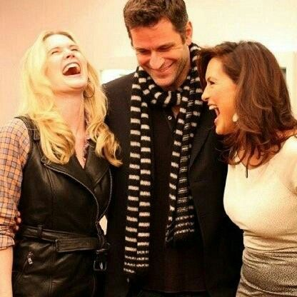Stephanie March, Peter Hermann and Mariska Hargitay laughing so adorable