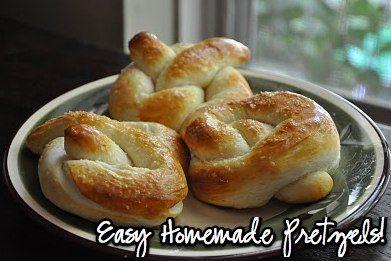 Homemade Buttery Pretzels