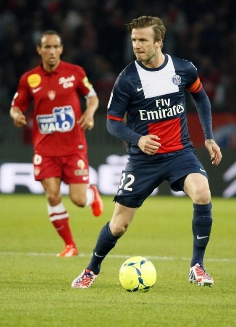 David Beckham captaining Paris Saint-Germain FC in his last professional football match