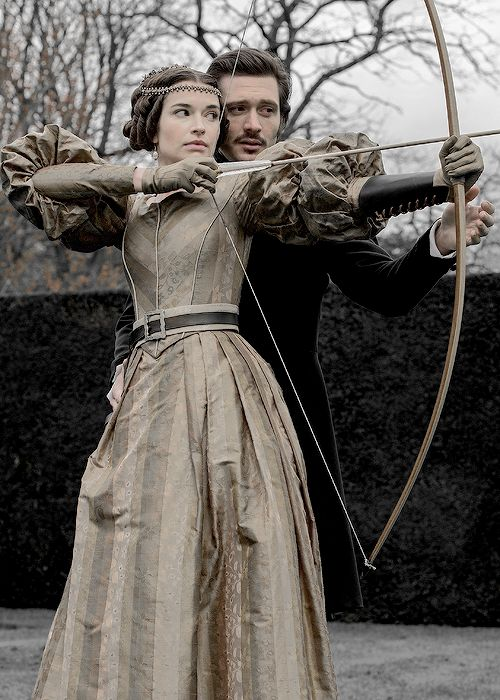 Margaret Clunie as Harriet, Duchess of Sutherland and David Oakes as Prince Ernest of Saxe-Coburg and Gotha in Victoria (2016)