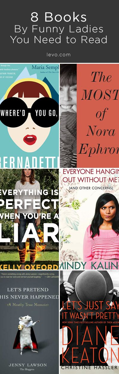 HILARIOUS WOMEN AUTHORS you need to be reading. #LevoReads #booklists #books