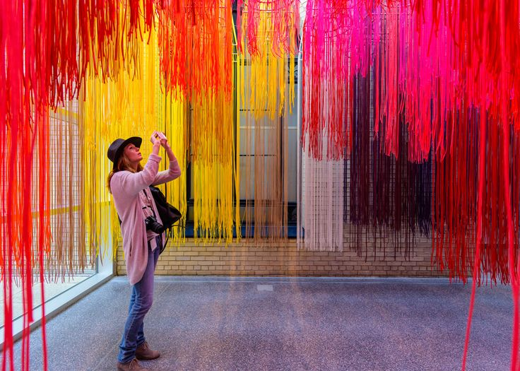 Berlin-based architect Diébédo Francis Kéré has created a rainbow-coloured installation made of hundreds of strands of lightweight cord