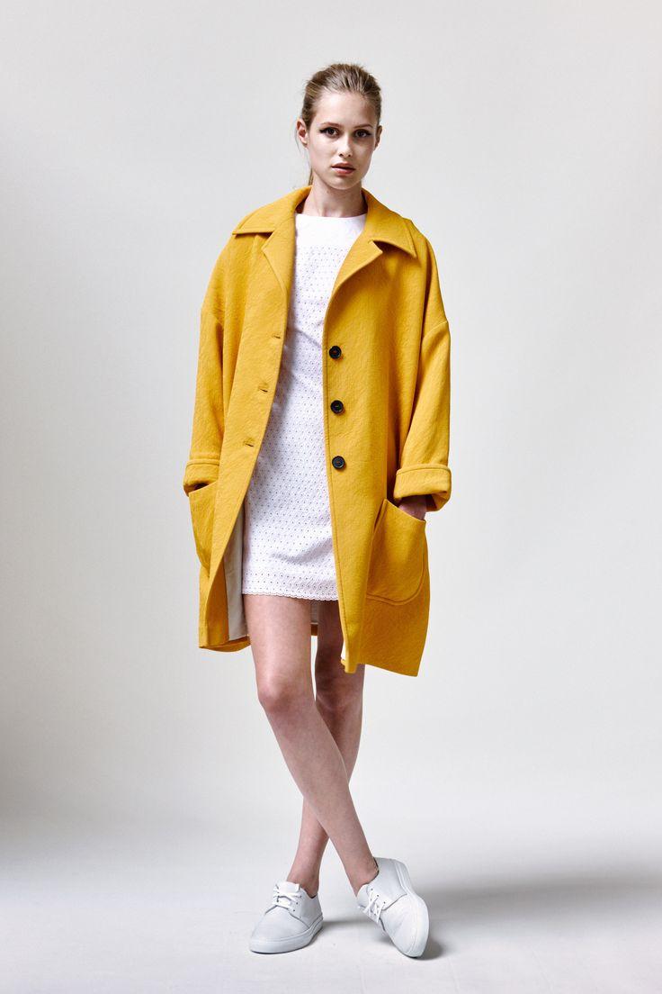 Mena Coat, Birgitta Dress and Leather Sneakers | Samuji SS16 Seasonal Collection