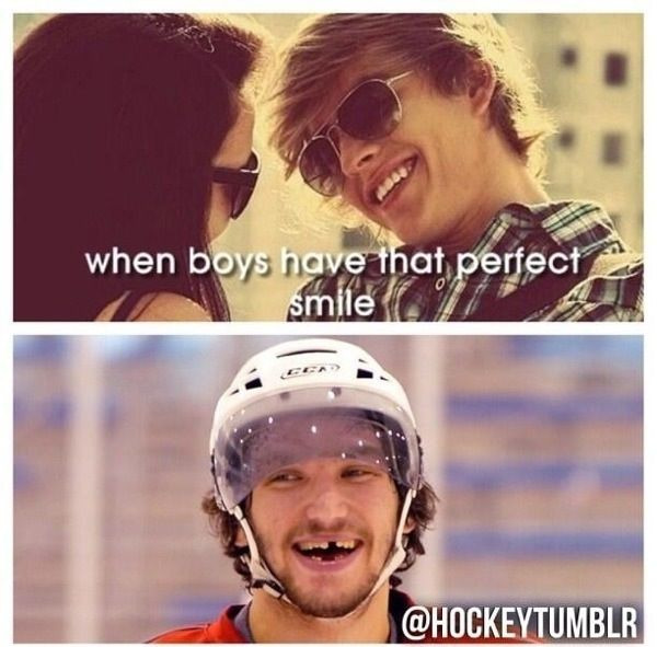 Hockey smiles- ovi has the best smile of the NHL