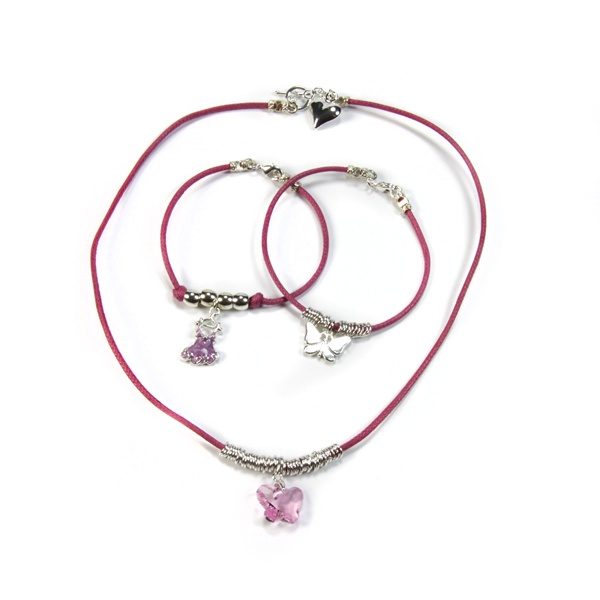 Necklace & Bracelet Charm Pippin Kit Pink RRP £19.99 from Burhouse Beads