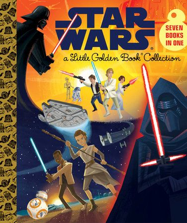 The Star Wars Little Golden Book Collection includes retellings of The Phantom Menace, Attack of the Clones, Revenge of the Sith, A New Hope, The Empire Strikes Back, Return of the Jedi, and The Force...