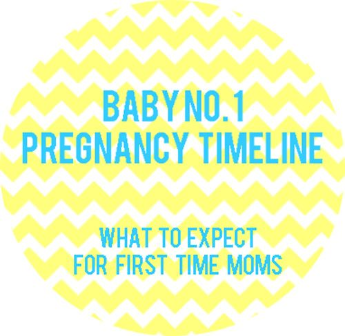 A great timeline for what's in store. http://honeysuckleandlace.com/2014/02/first-baby-pregnancy-timeline/
