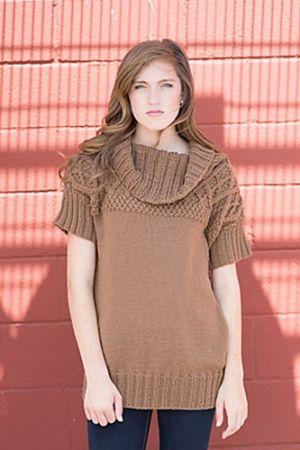 Filatura Di Crosa Zara Lattice Yoke Tunic Kit - Women's Pullovers