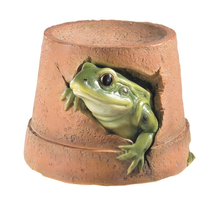 Frog Flower Pot Resin Garden Ornament