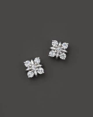 Diamond Stud Earrings in 14K White Gold, .40 ct. t.w. | Bloomingdale's
