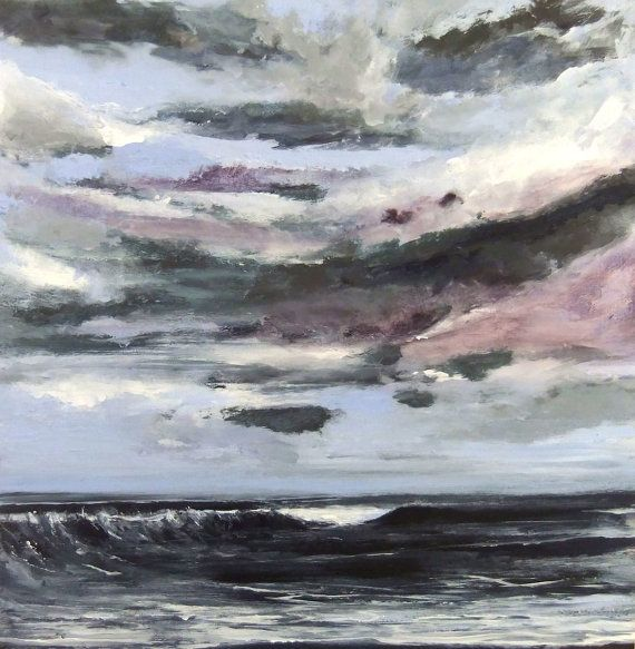 The Pacific After the Storm - Original Painting Lg