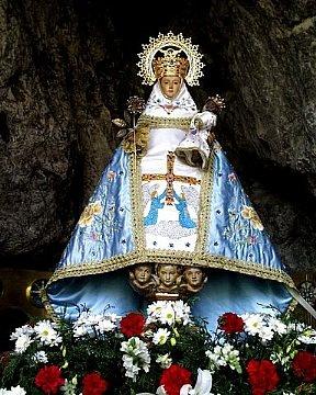 La virgen de Covadonga. Asturias