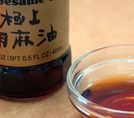Sesame oil (Recipe: beef teriyaki skewers) {The Perfect Pantry}