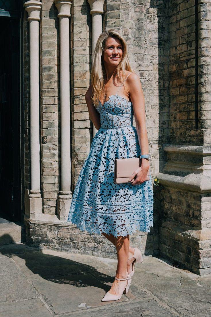 9 best wedding guest inspo images on pinterest feminine for Sky blue wedding guest dresses
