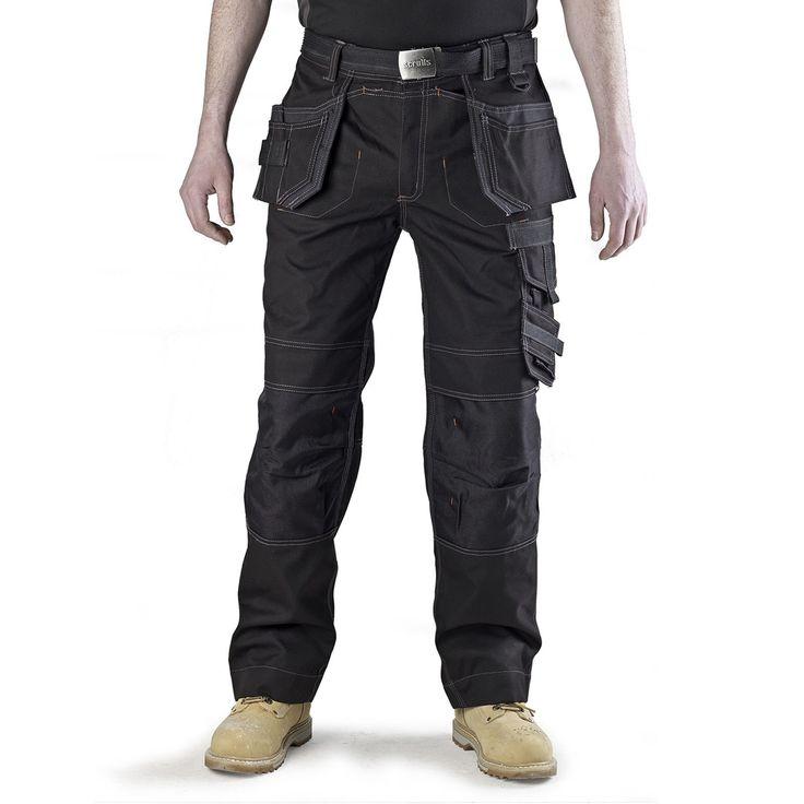 "Scruffs Workwear Pro Trousers - Black - W30""-W40"" 31""L or 33""L (work/trade)   eBay"