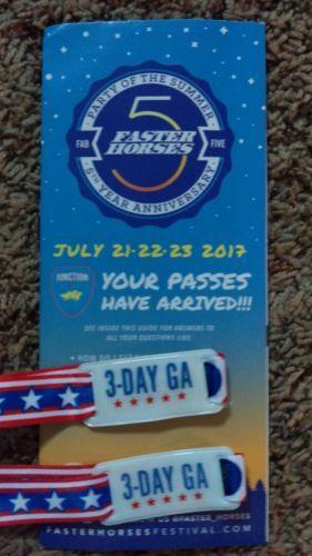 #tickets Faster Horses Festival: July 21-23 please retweet