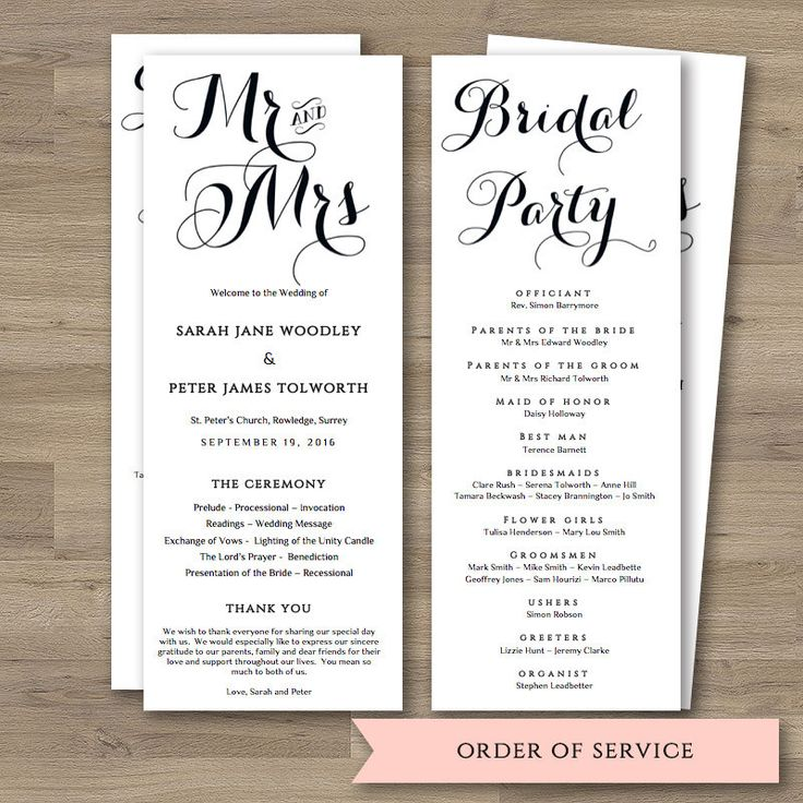 17 best ideas about order of service template on pinterest for Wedding ceremony order of service template free