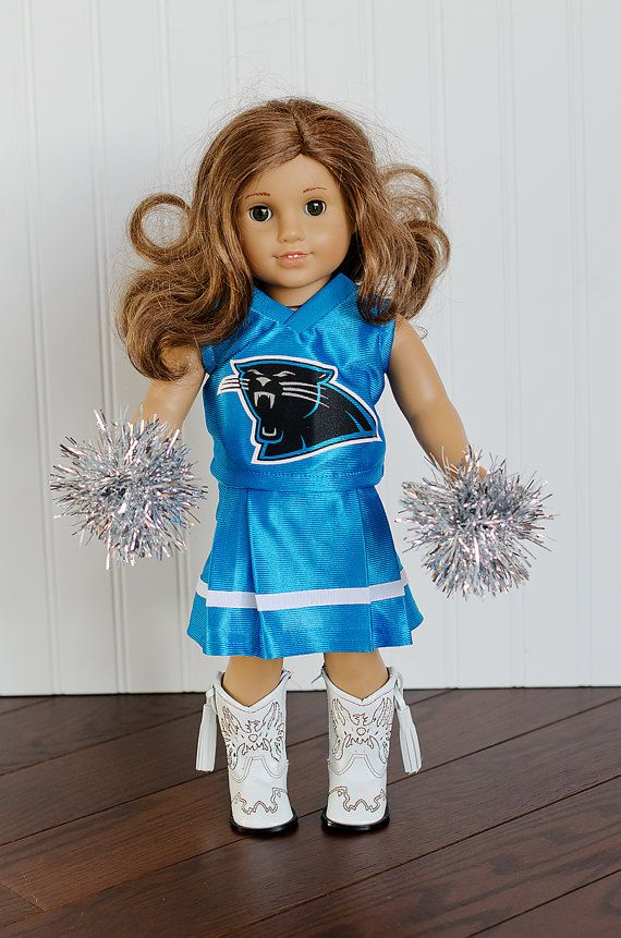 American Girl Doll NFL Carolina Panthers by janscraftroom on Etsy, $32.00