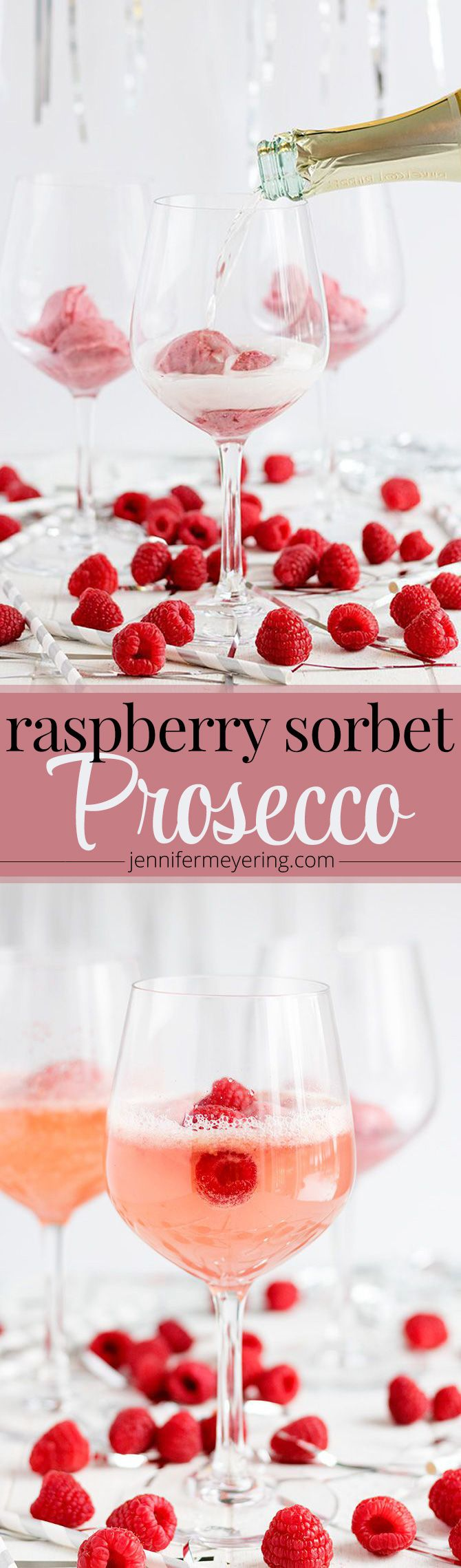 Raspberry Sorbet Prosecco - JenniferMeyering.com