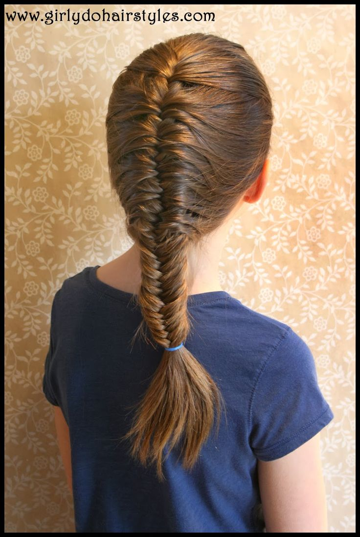 17 best images about children hairstyles on pinterest for Fish tails braid