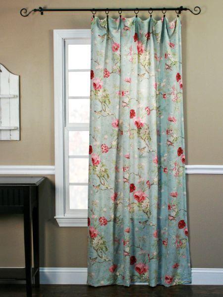 Birdsong Blooms Rod Pocket Curtain Panel Decor Decorating Ideas