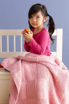 Princess Basketweave Throw - Free Knitted Pattern - (joann.lionbrand)