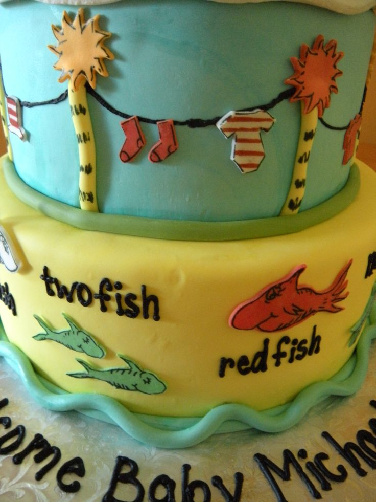 Dr Seuss Baby Shower Cakes | Dr. Seuss Themed Baby Shower Cake | Main Made