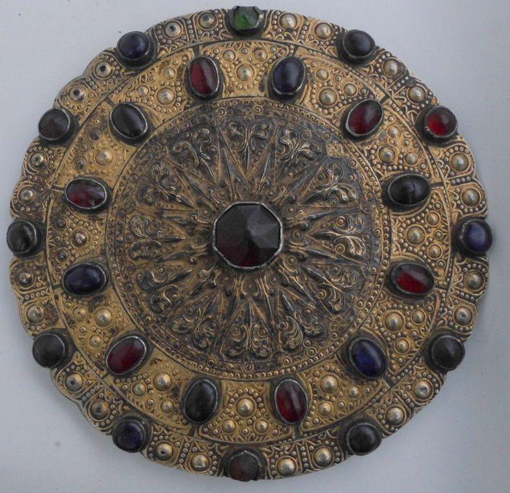 Antique Gulyaka Yomut Gilded Silver Collar Button Yomud Turkmen Women Gülyaka | eBay