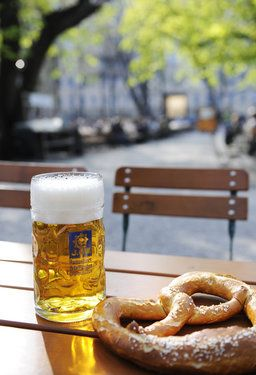 Augustiner-Keller Beer Garden in Munich - the perfect setting to enjoy some local cuisine including pretzels and of course beers!