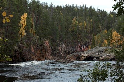 Finland, Kuusamo, Kiutaköngäs