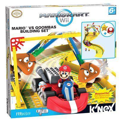 K'NEX Mario Kart Wii Mario vs Goombas Building Set