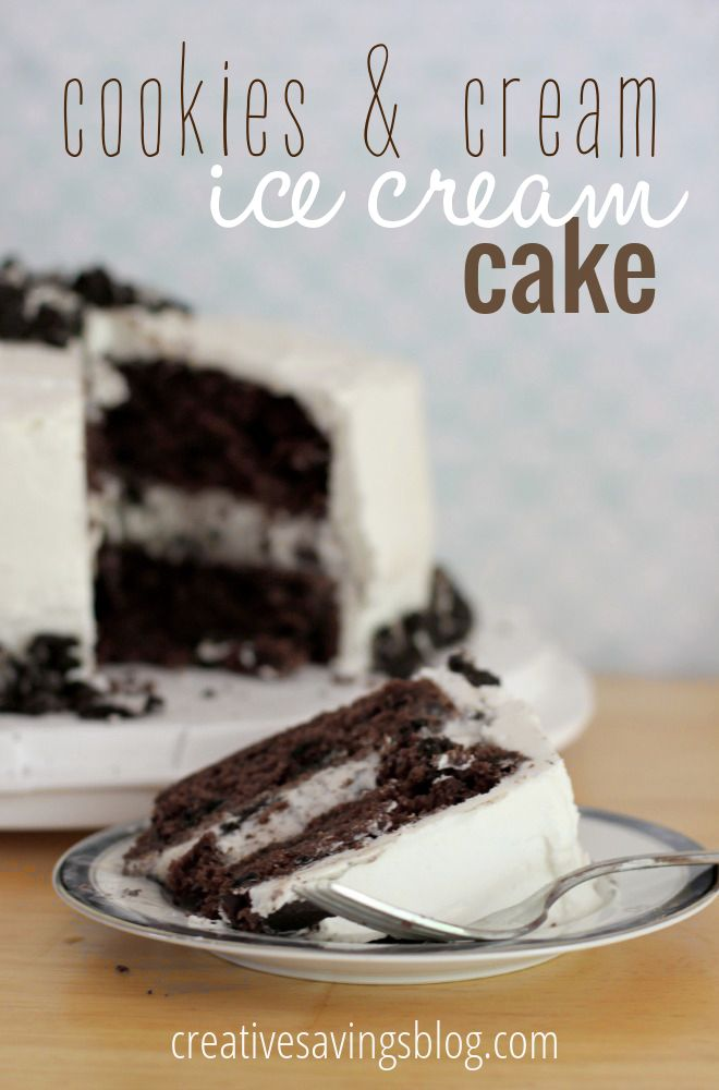 Don't buy expensive ice cream cakes when you can make ones that taste even BETTER at home. This Cookies and Cream Cake has gooey vanilla frosting on the inside, crunchy chocolate cake on the inside, and just the right amount of ice cream sandwiched between the two. Perfect for birthdays, company, or as an indulgent treat for yourself!