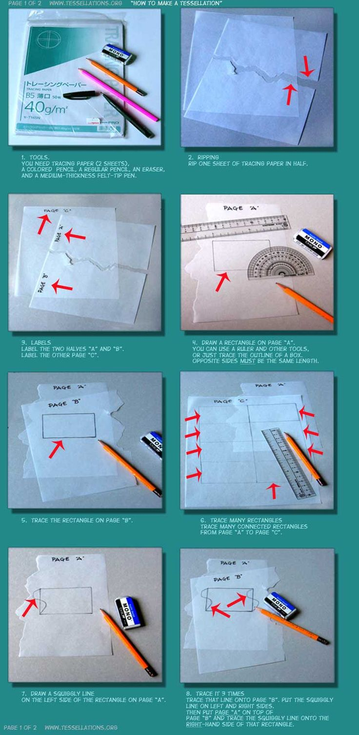 Easy paper tessellation instructions