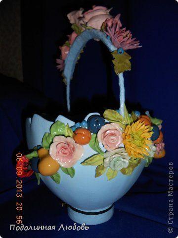 Поделка изделие Пасха Лепка Фарфоровая  ваза своими руками Пасхальная коллекция  Гипс Фарфор холодный фото 1