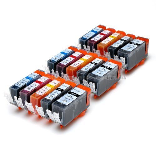 From 9.99 Premier Cartridges 15 Canon Compatible Cli526 Pgi525 Printing Ink Cartridges - New With Chip Installed No Fuss - Multipack Set Of 15 Canon Compatible Printer Ink Cartridges For Canon Pixma Ip4850 Ip4950 Mg5250 Mg5350mg5150 Mg8250 Mg6150 Mg6220 Mg6250 Mg8150 Mg8220 Mx715 Mx885 Ix6550 Printer Inks Pgi 525bk Cli 526y Cli 526m Cli 526c Cli 526bk) High Capacity Inks
