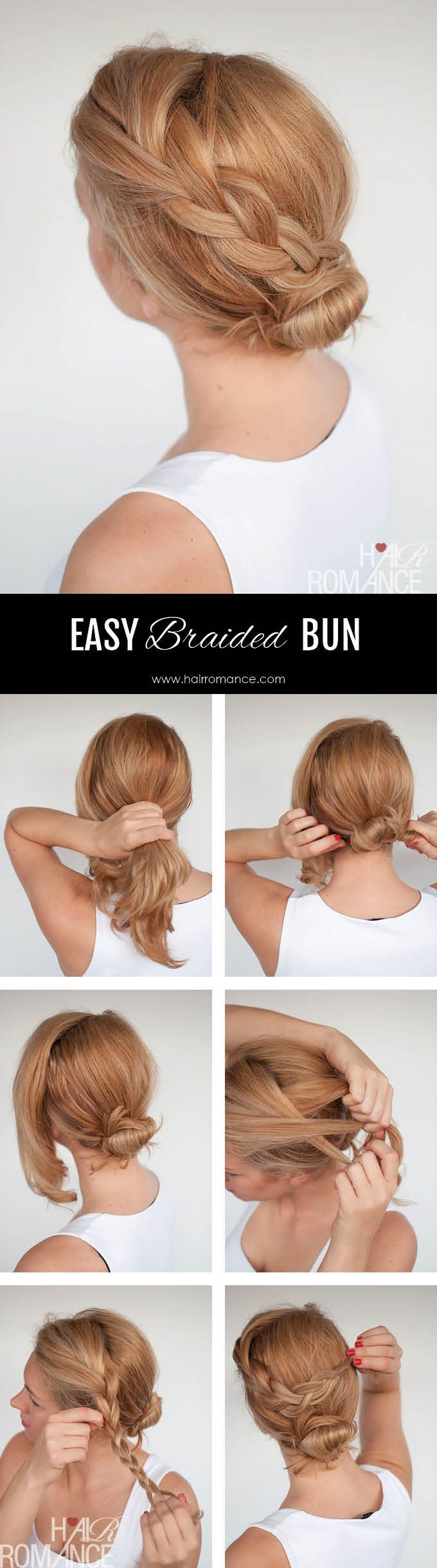 Simple braid tutorial - click through for the full hairstyle tutorial