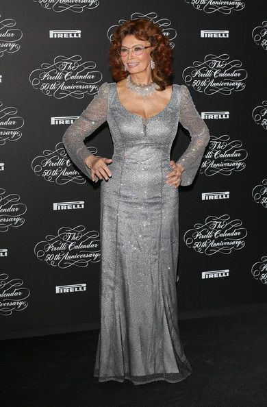 Sophia Loren - Arrivals at the Pirelli Calendar 50th Anniversary Event