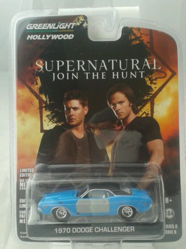 Greenlight-Hollywood-series-8-1-64-die-car-supernatural-1970-Dodge-Charger