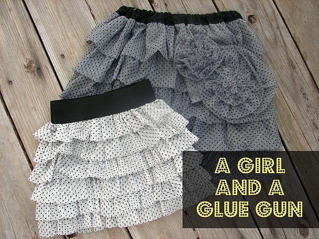CUTE ruffled skirt tutorial