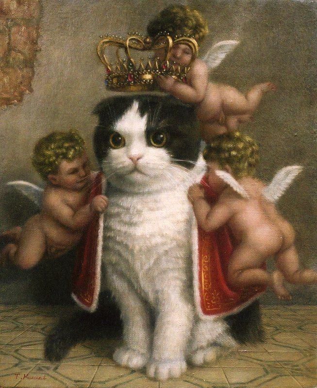 Tokuhiro kawai: Cats, Animals, Stuff, Art, Funny, Things, King, Kitty, Cat Lady