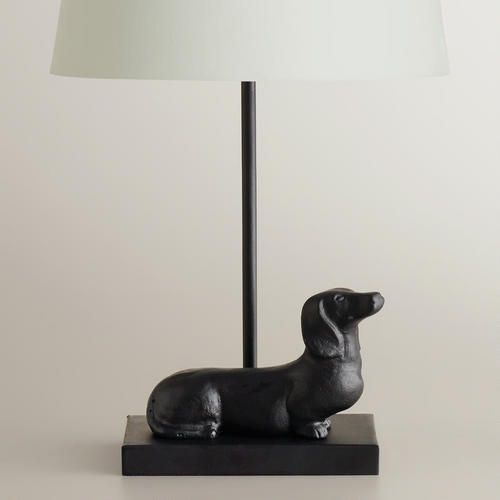 One of my favorite discoveries at WorldMarket.com: Dachshund Accent Lamp Base