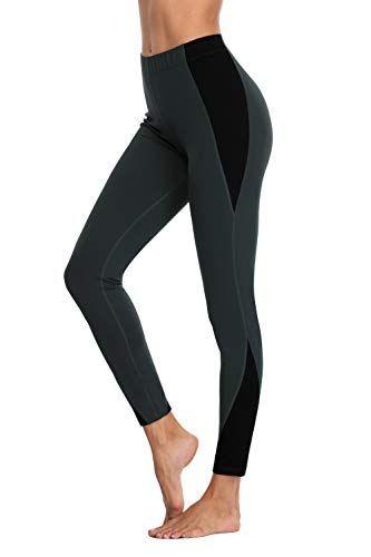 Charmo Damen Leggings Jogginghose Yogahose Sport Laufhose Lang Grau Schwarz M – amazonmode