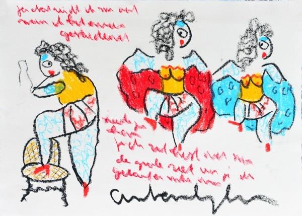 '3 danseresjes' van Anton Heyboer