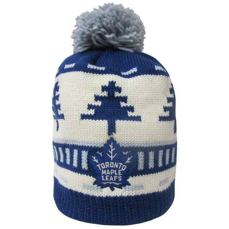 Toronto Maple Leafs Reebok Men's Festive Pom Toque - shop.realsports