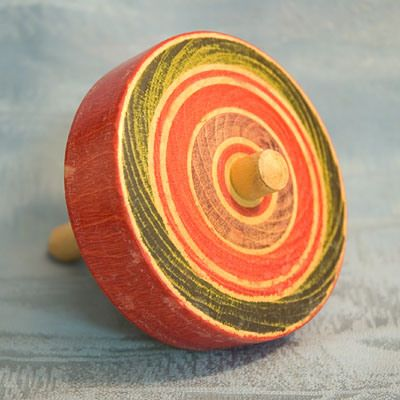 JAPANESE ANTIQUE TOYS | Old Japanese Toy Spinning Top Traditional Style Koma Japan Tokaido ...
